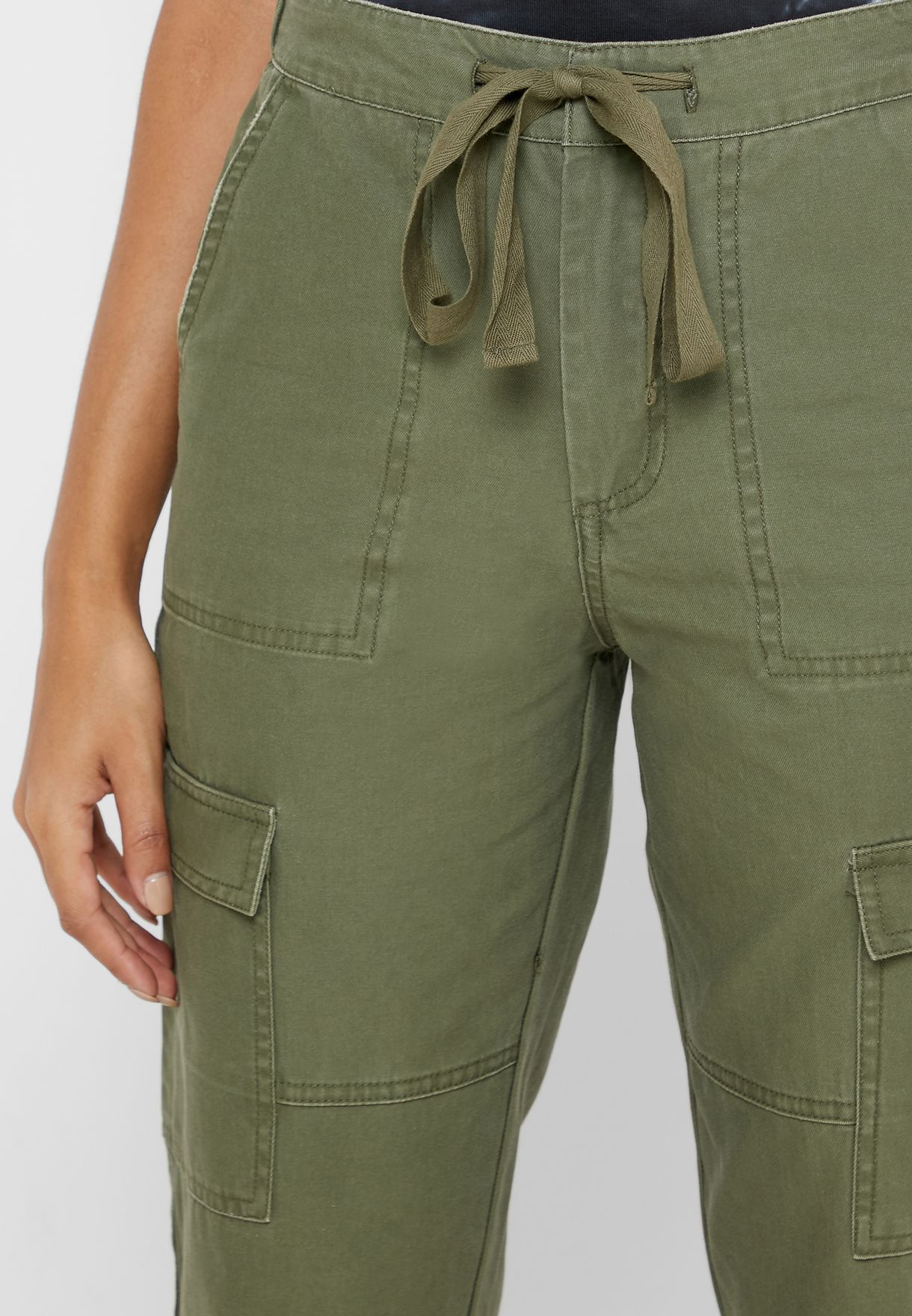Roll Hem Cargo Pants