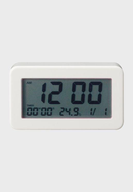 ساعة رقمية مستطيلة للحمام