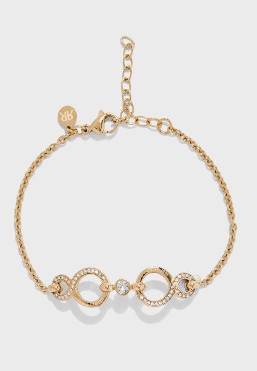 Infinity Swarovski Stone Bracelet