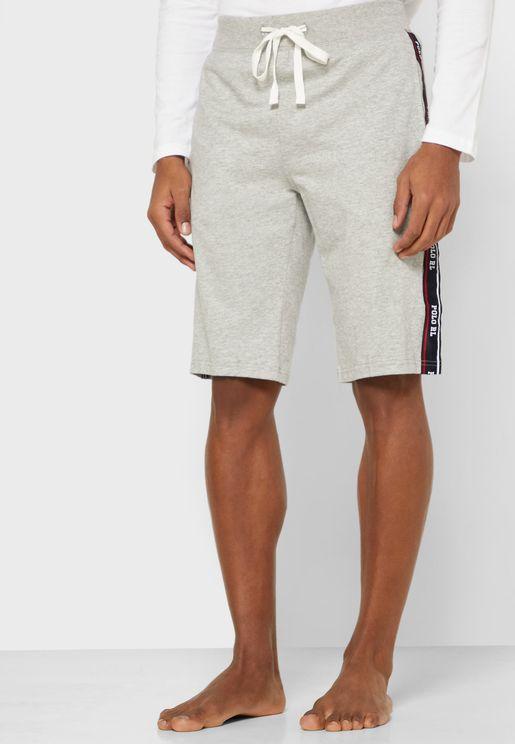 Side Logo Stripe Shorts