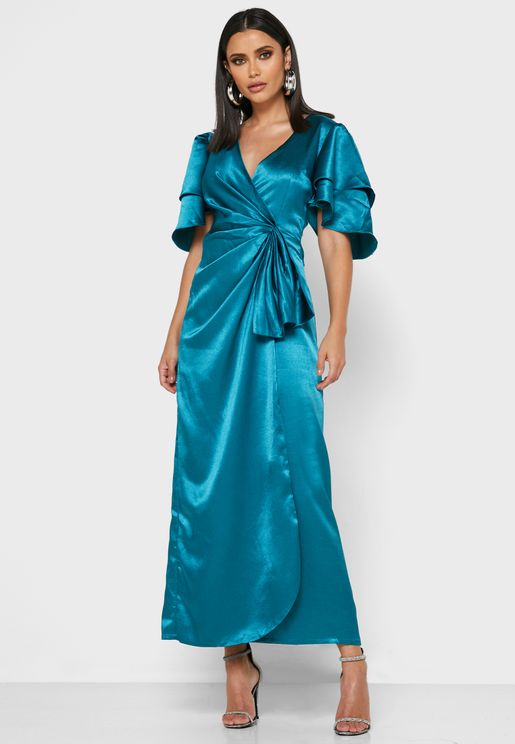 Zara Wide Sleeve Wrap Dress