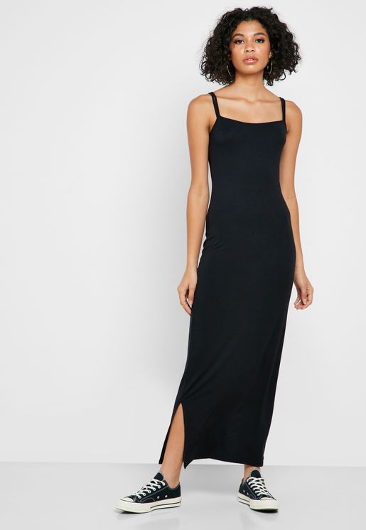 Side Split Strappy Dress