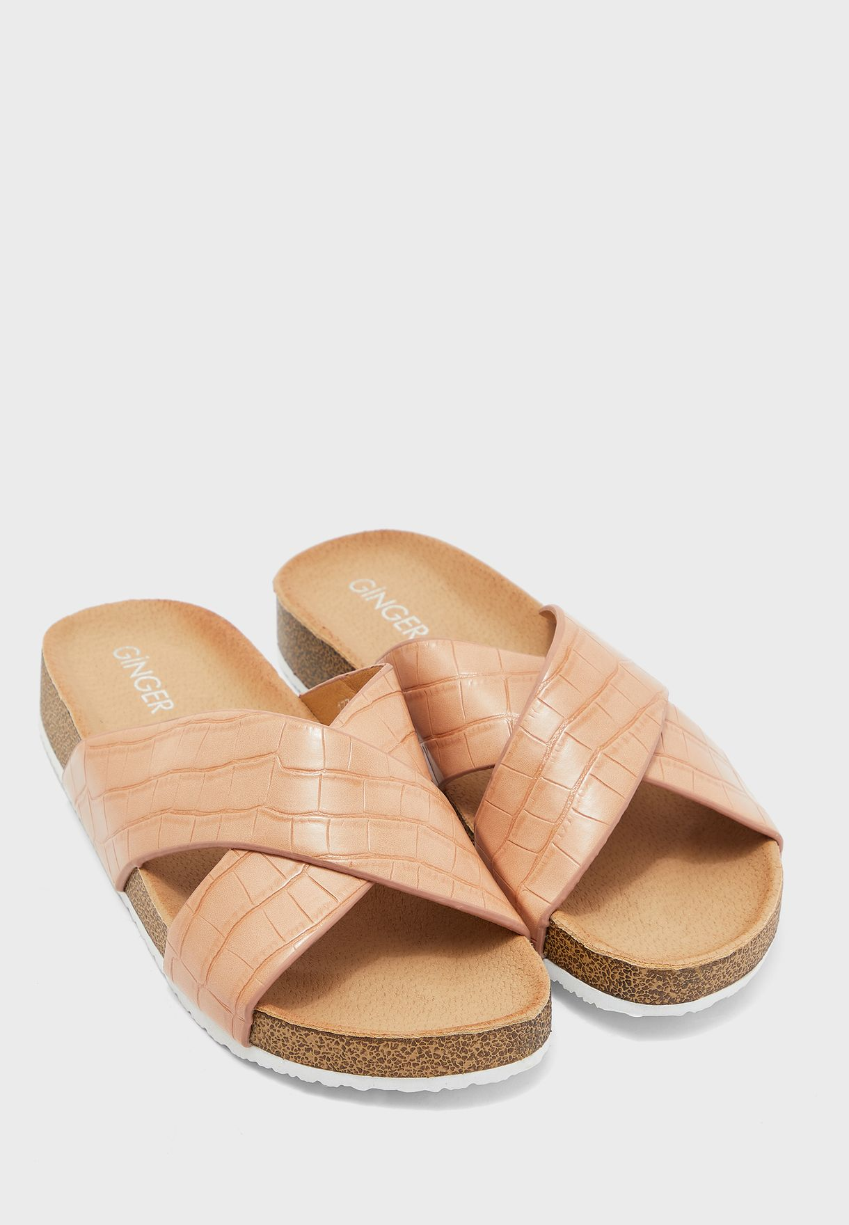 Cross Strap Footbed Sandal