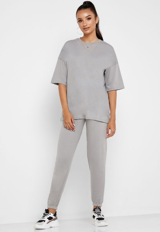 Oversized T-Shirt And Joggers Co Ord