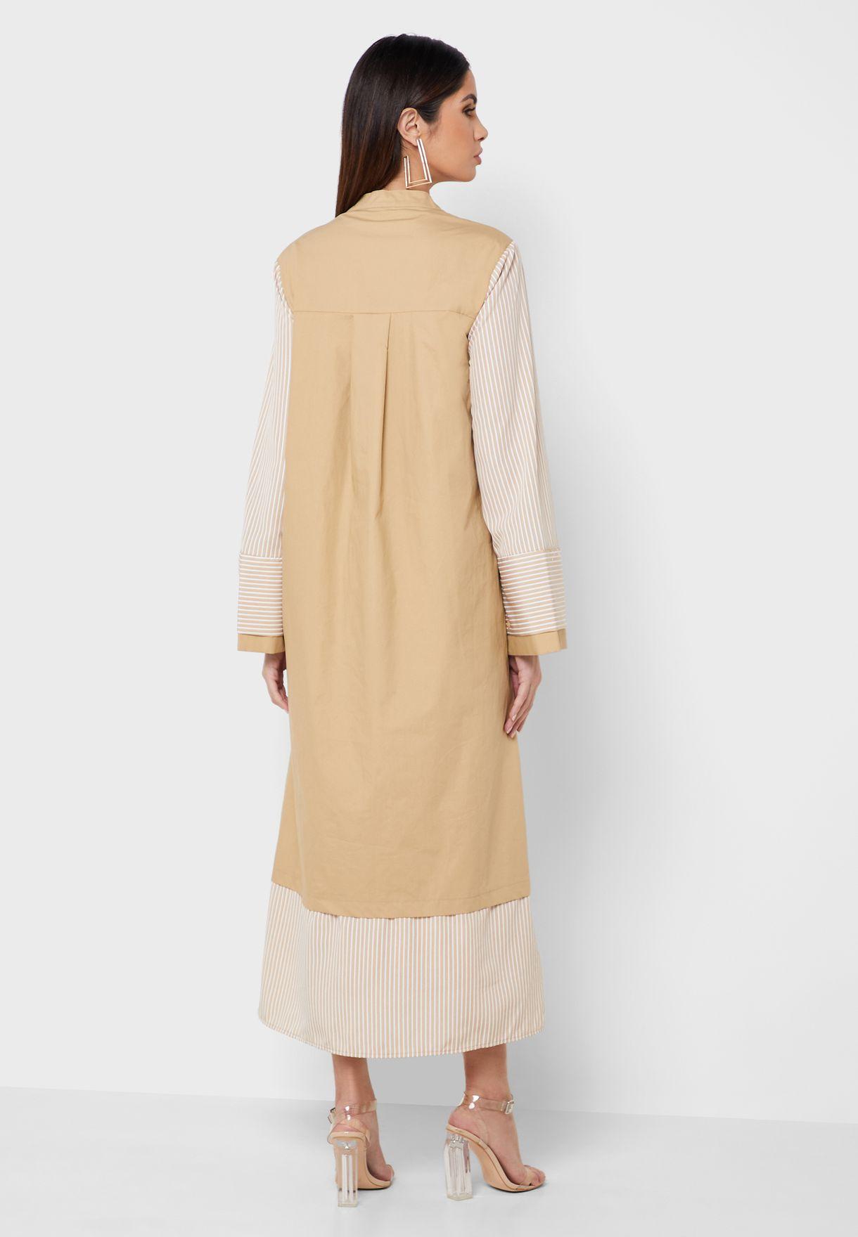فستان بياقة صينية