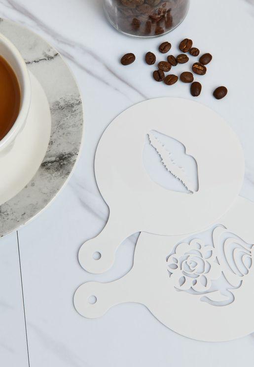 Set Of 2 Coffee Stencils
