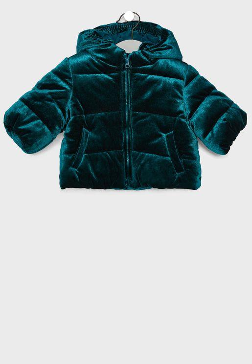Infant Velvet Puffer Jacket
