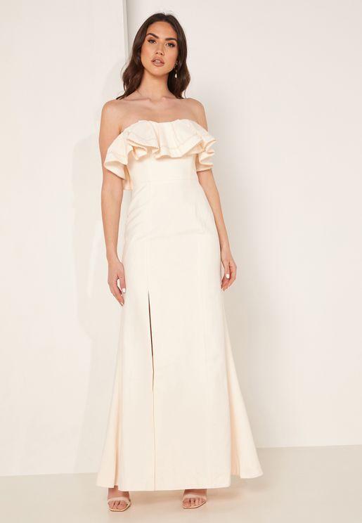 Affinity Front Split Bandeau Gown