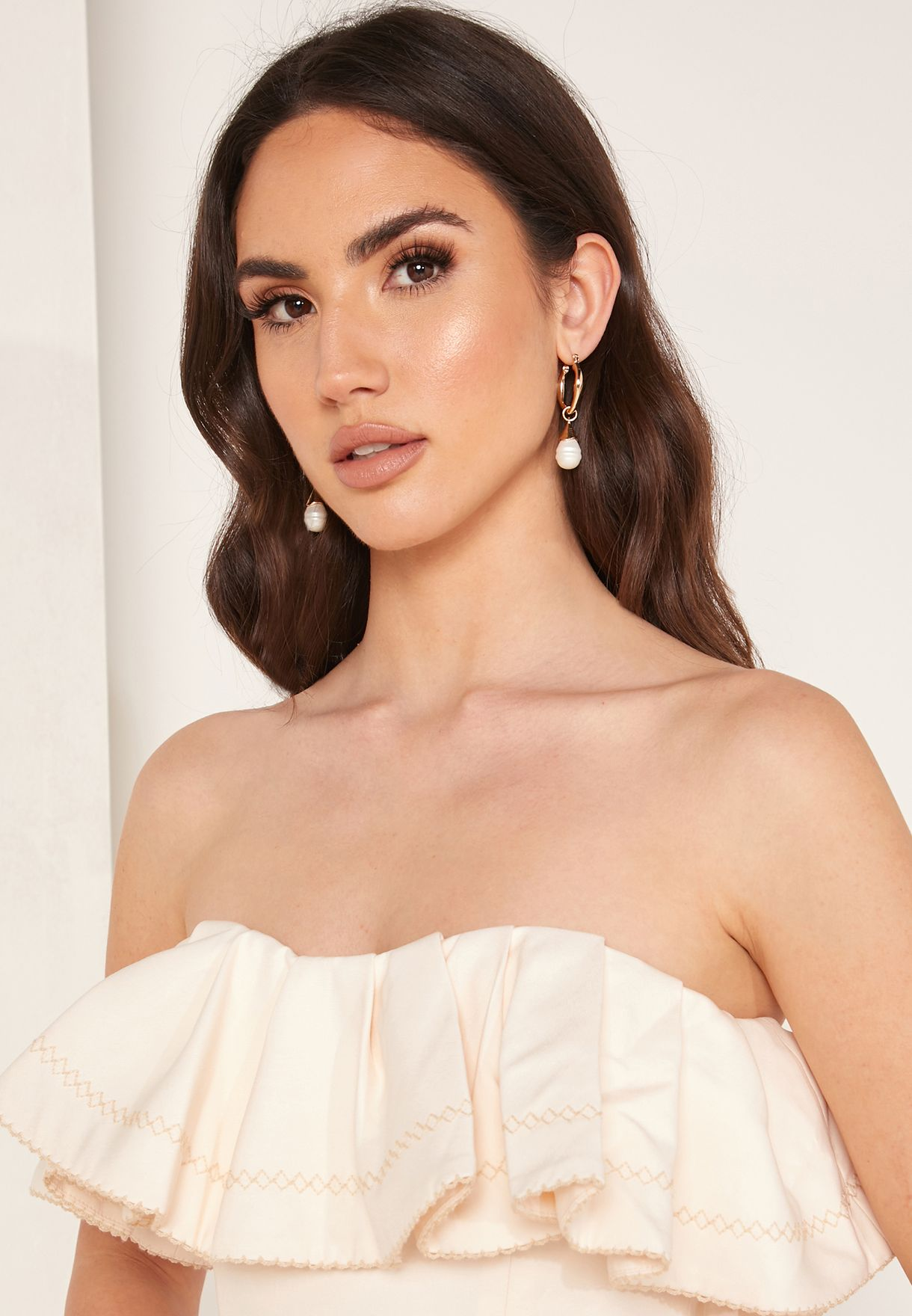 Affinity Front Split Bandeau Gown