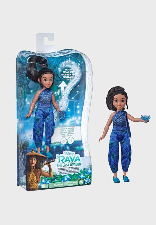 Disney Princess Doll Young Raya & Kumandra Flower