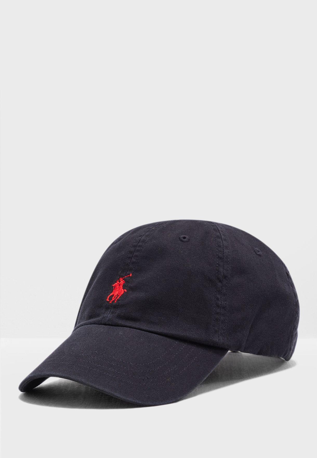 e89fb74cb35 Shop Polo Ralph Lauren black Cotton Chino Baseball Cap 7.10549E+11 ...