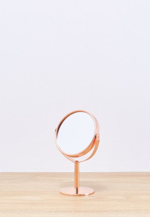 Rose Gold Round Table Mirror