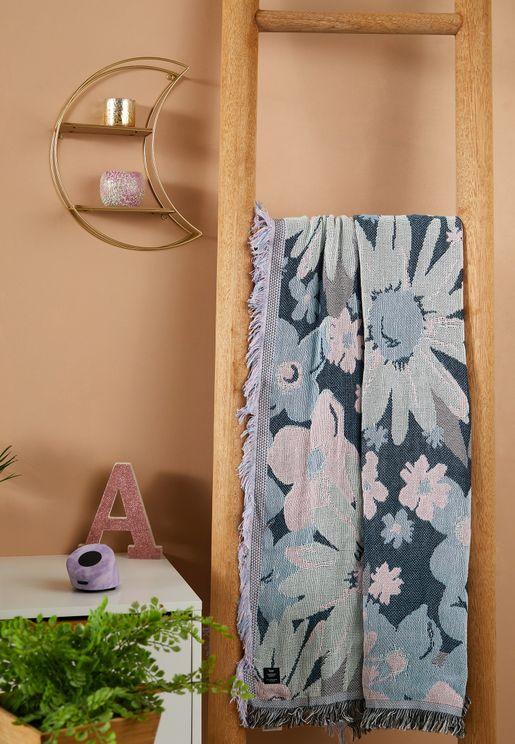 بطانية بطباعة زهور
