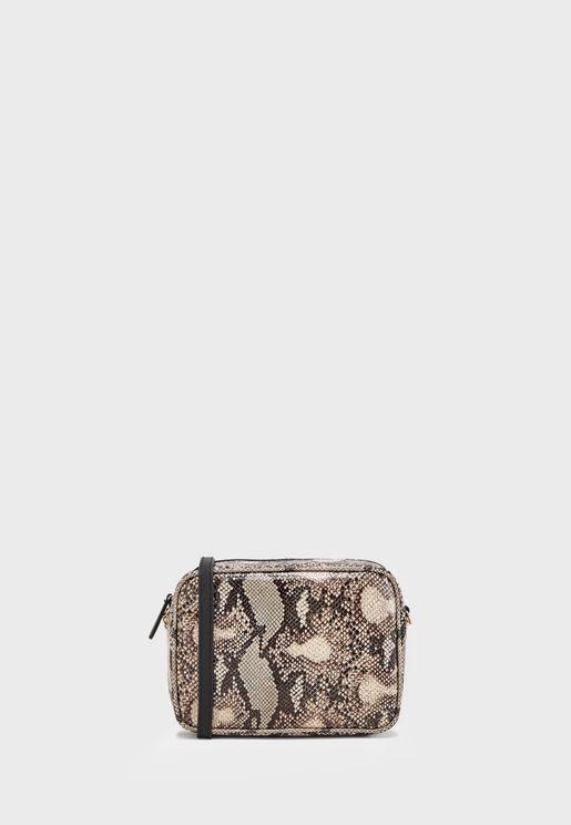 Camera Bag In Snake Print