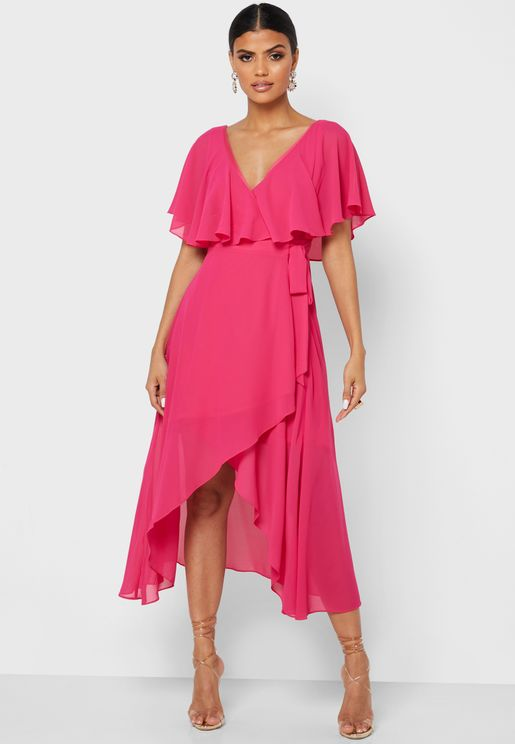 Front Twisted Pleated Dress