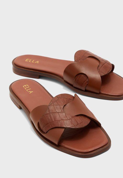Leather Flat Sandal