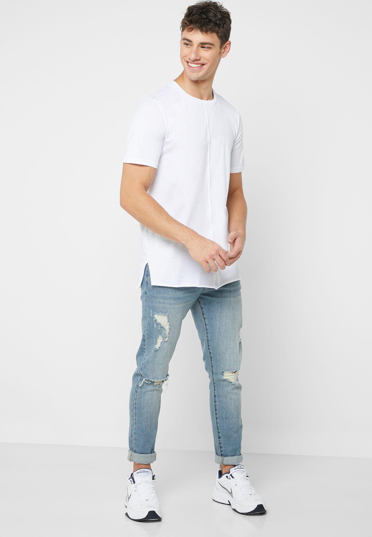 Side Split T Shirt