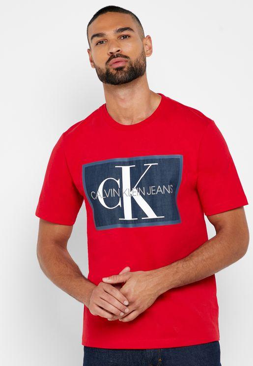 Monogram Icon Box Crew Neck T-Shirt