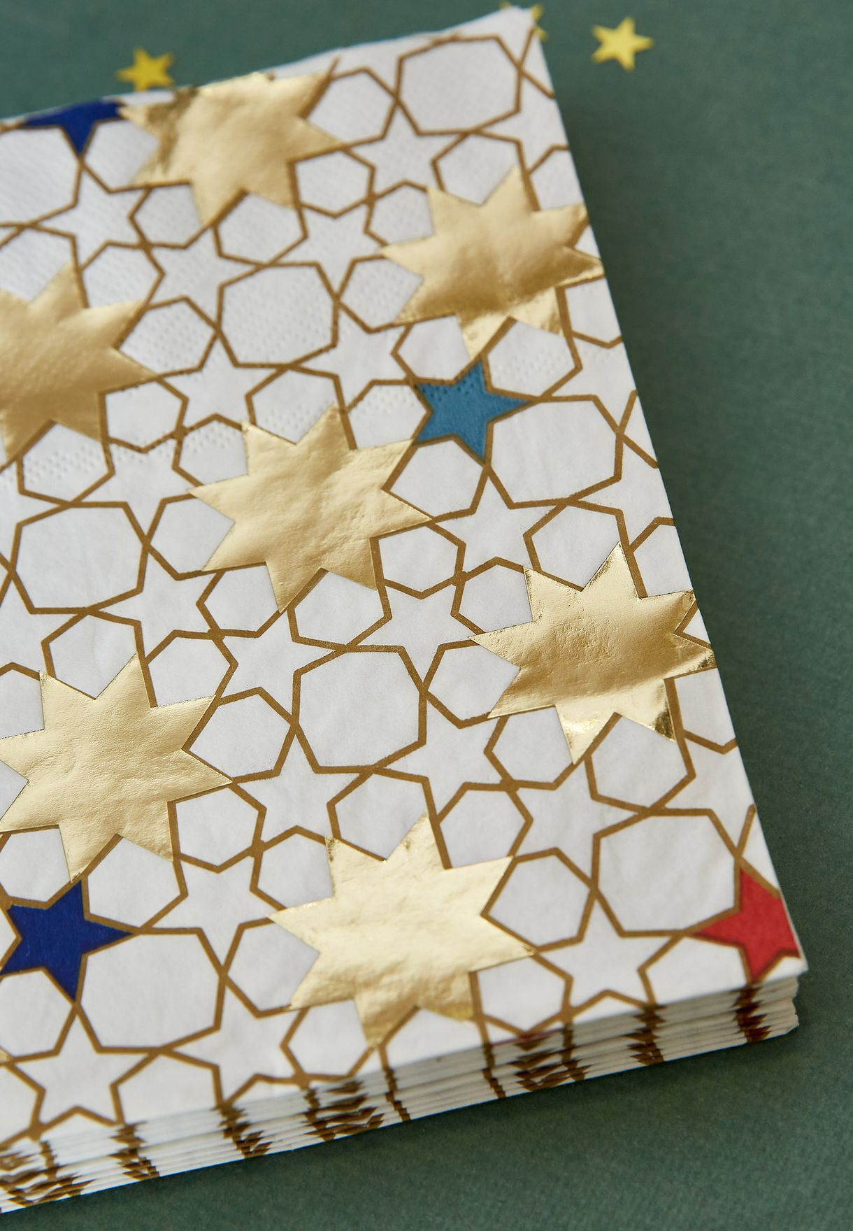20 Pack Star Pattern Napkins