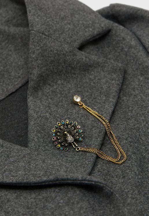 Peacock Lapel Pin