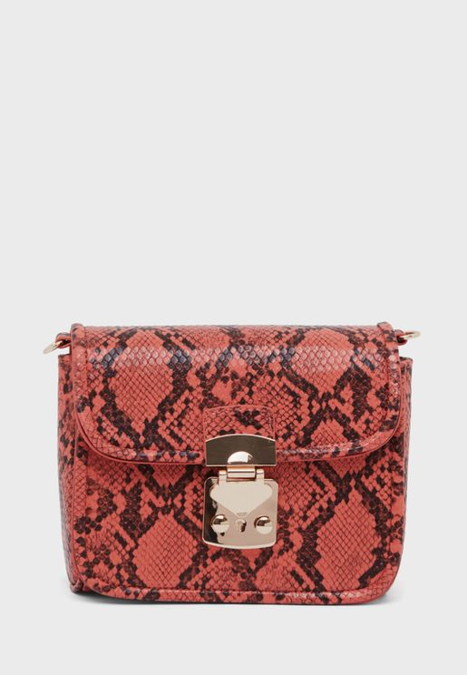 Flap Over Printed Crossbody