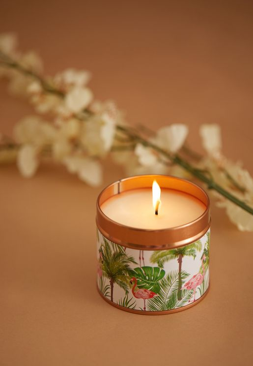 Coconut Rose Scented Candle