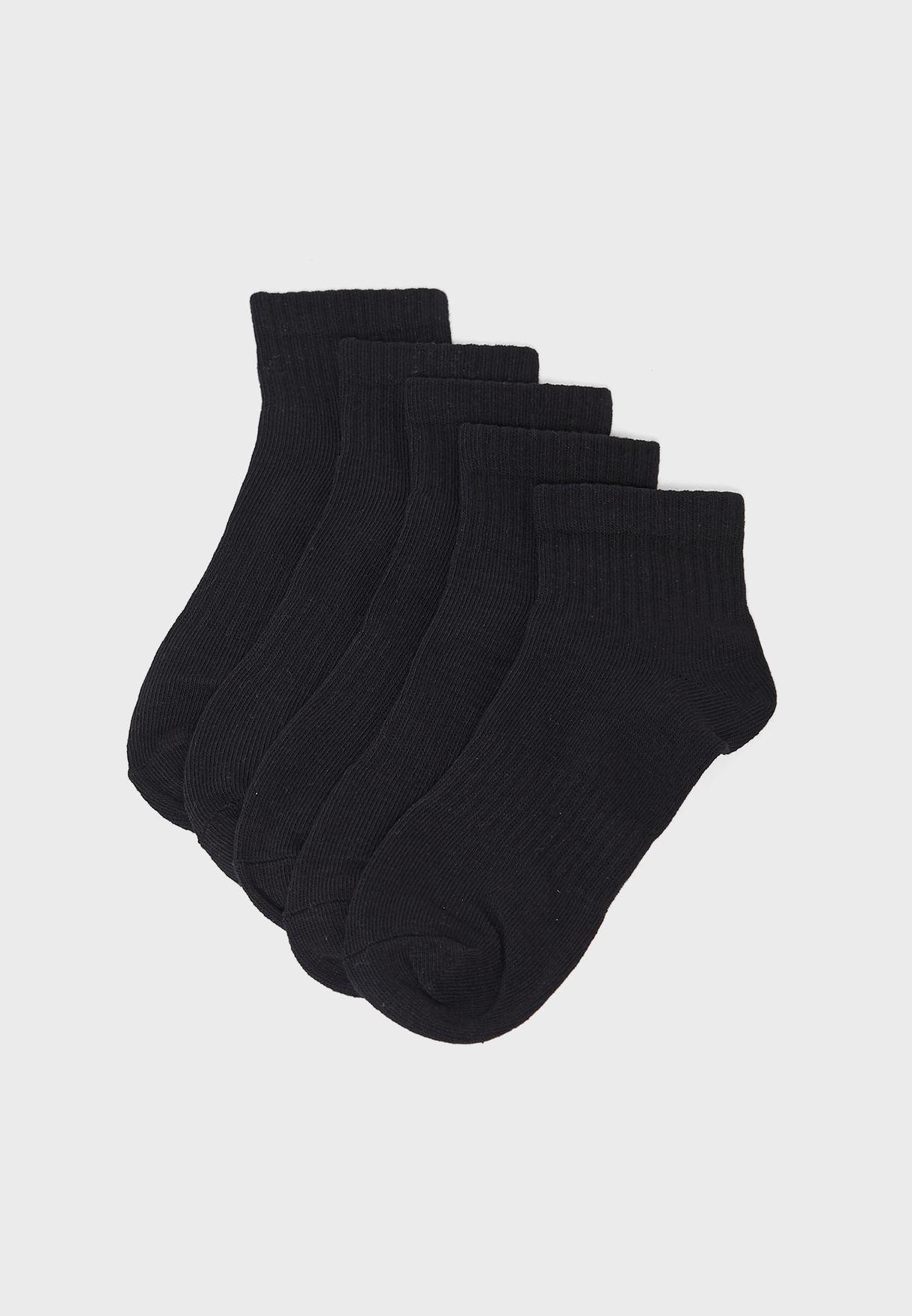 5 Pack Plain Socks