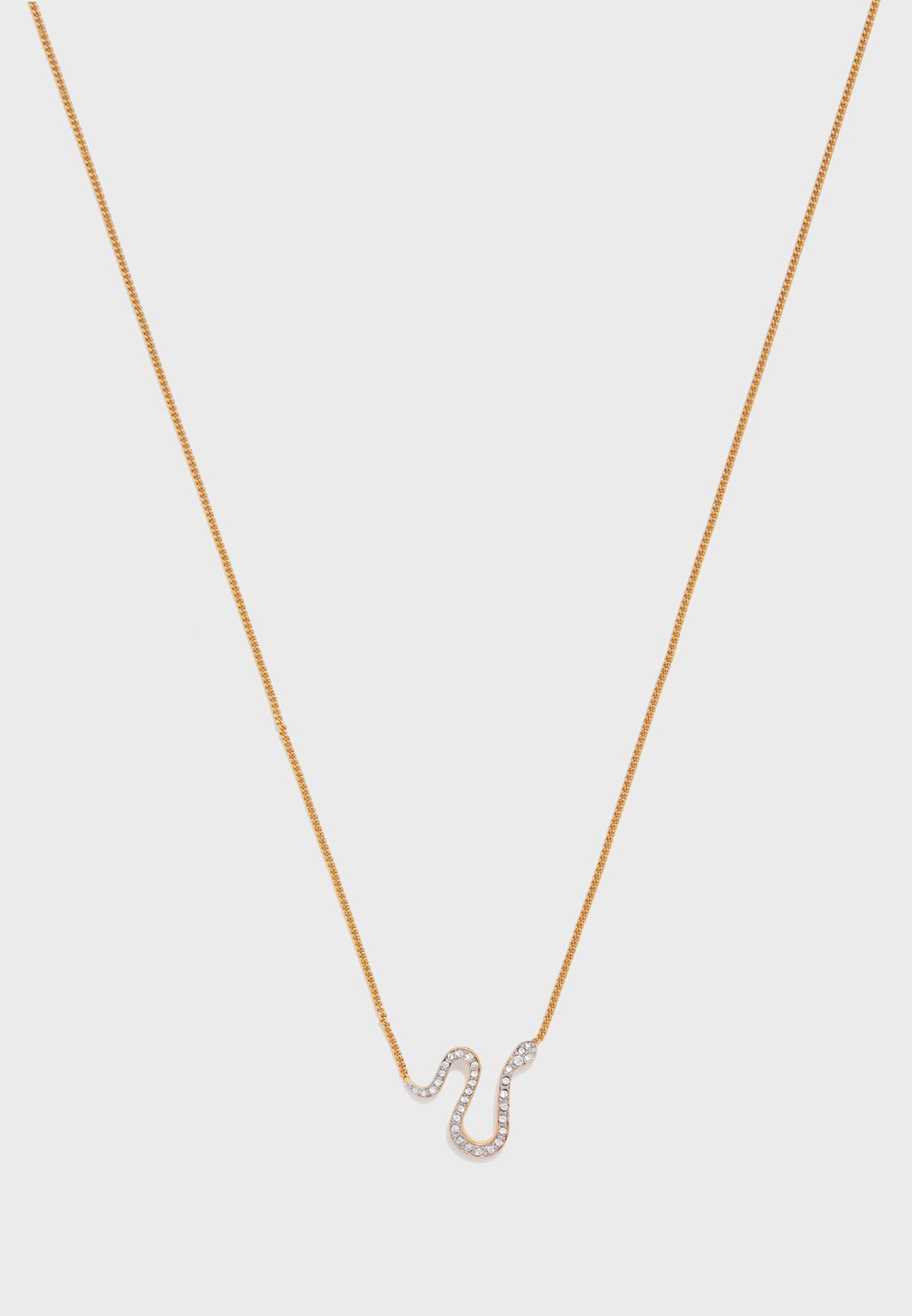 Pav Serpent Necklace