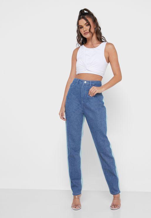 Colourblock Riot Jeans