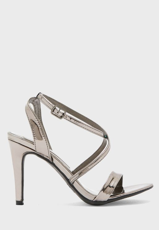 Cross Strap Stiletto Sandal