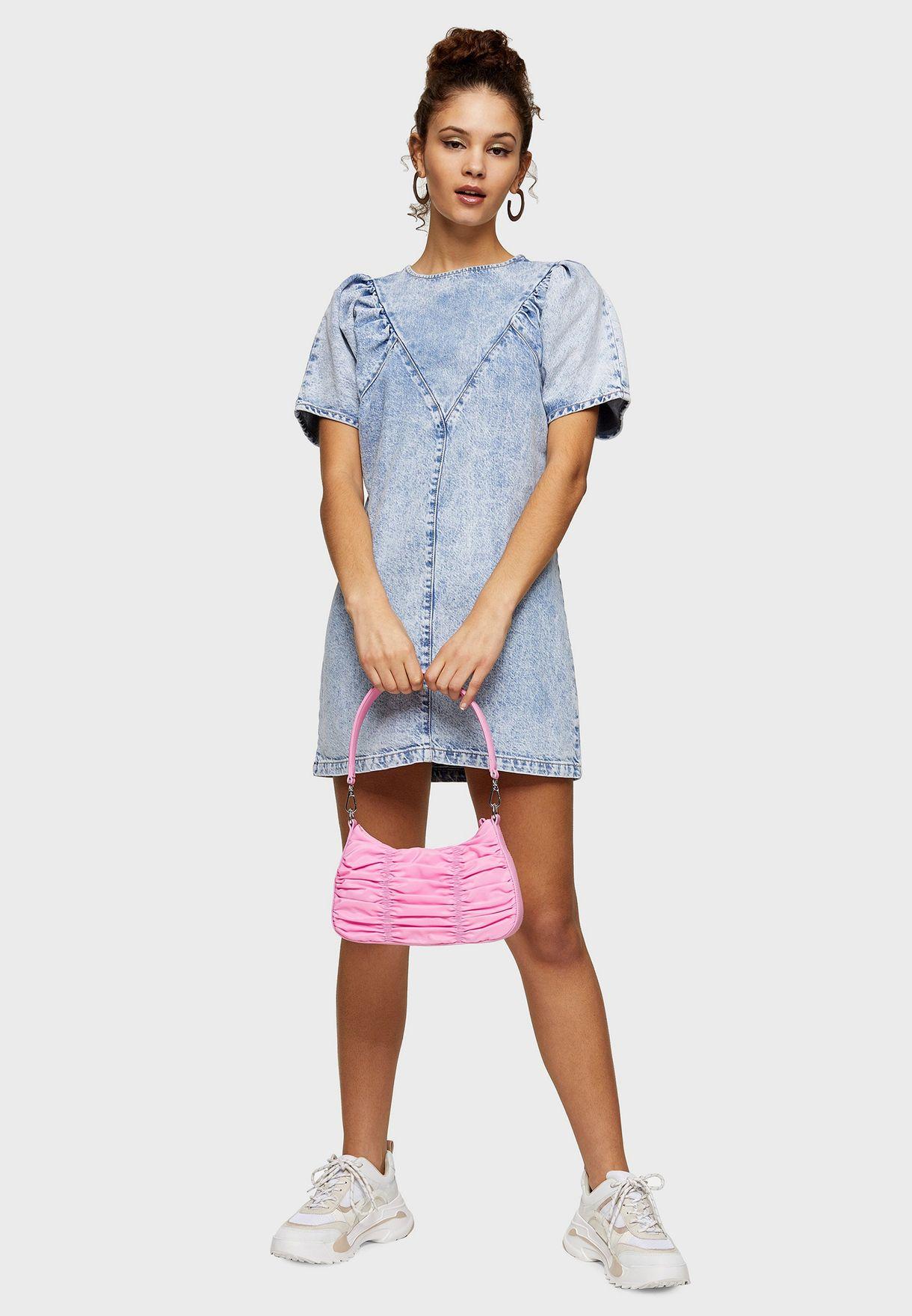 Denim Puff Sleeve Dress