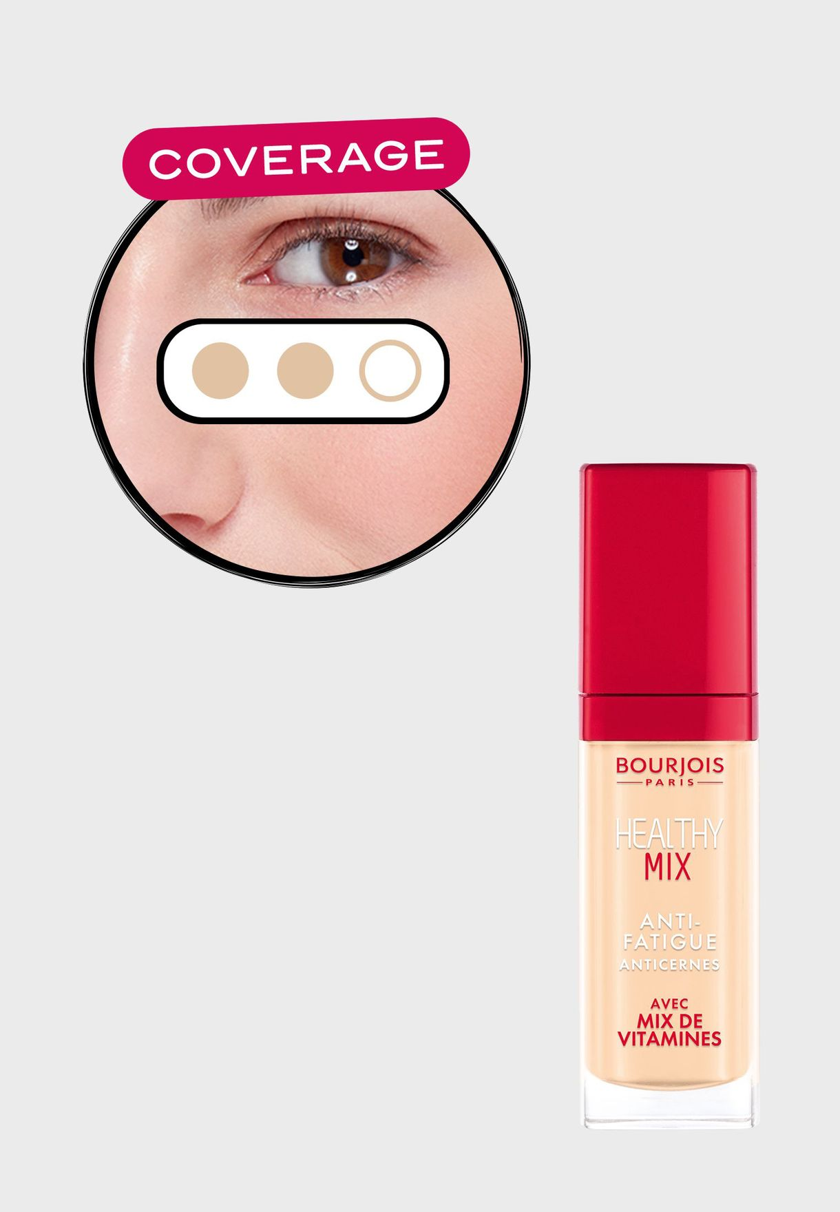 Healthy Mix Anti-Fatigue Concealer 49.5 Light Sand, 10 ml - 0.34 oz