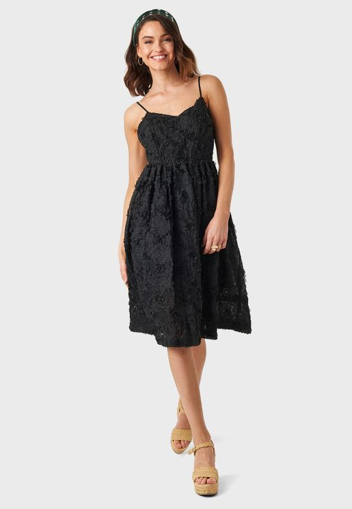 Applique Detail Lace Dress