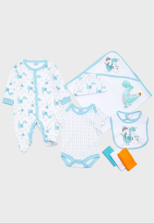 Infant 10 Piece Dragon Gift Set