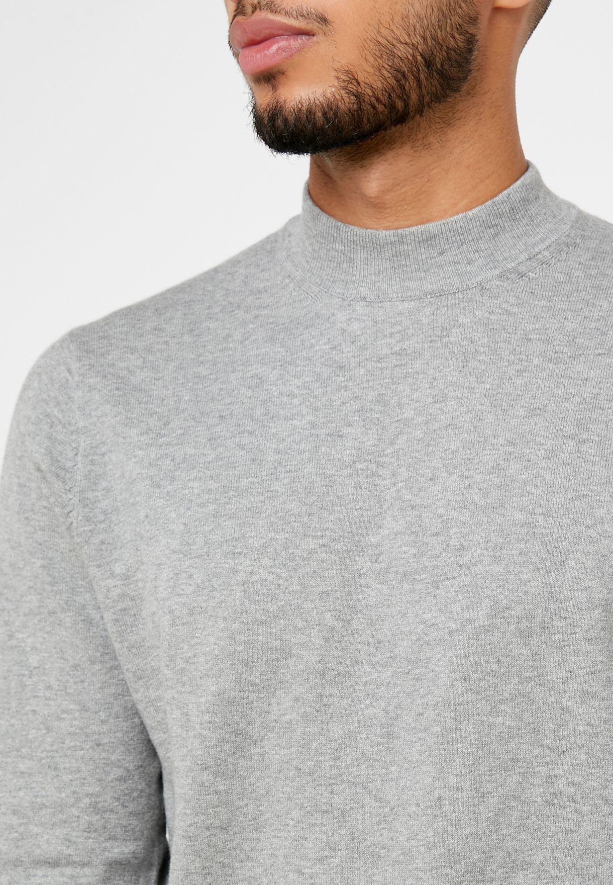 Core Logo Turtle Neck Sweater