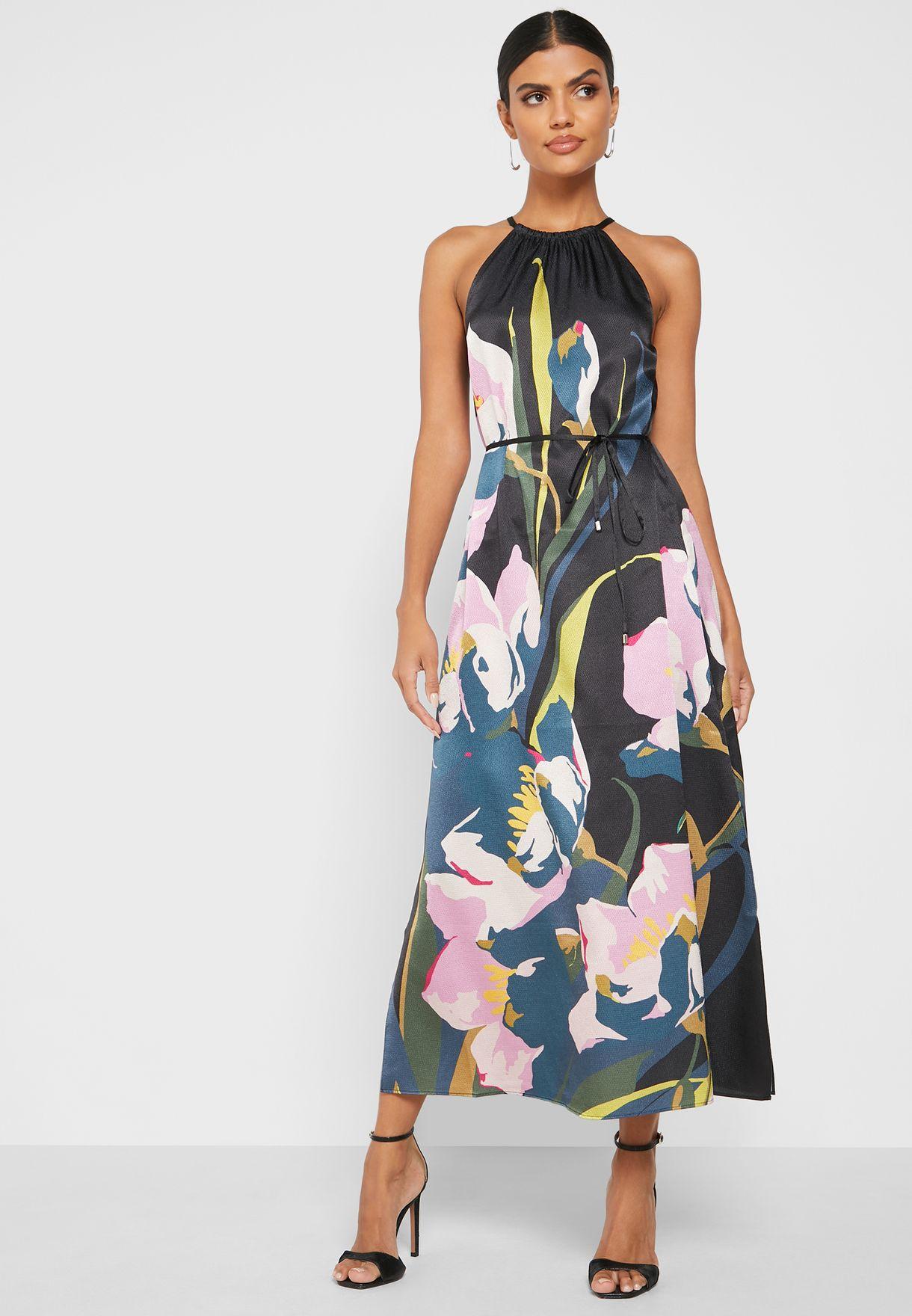 Piana  Halterneck Printed Dress