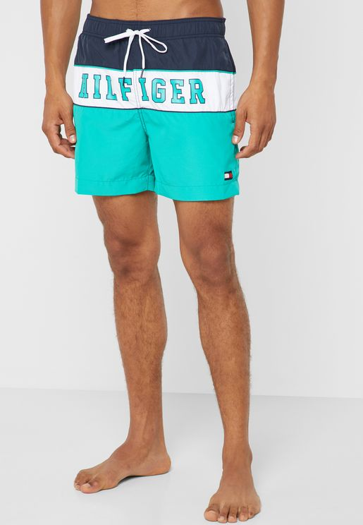 Logo Colour Block Shorts