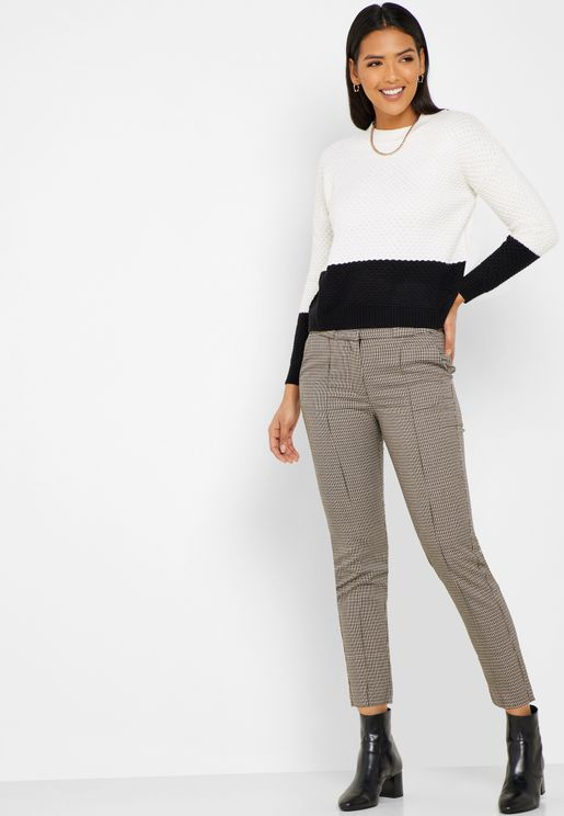High Waist Ankle Grazer Pants