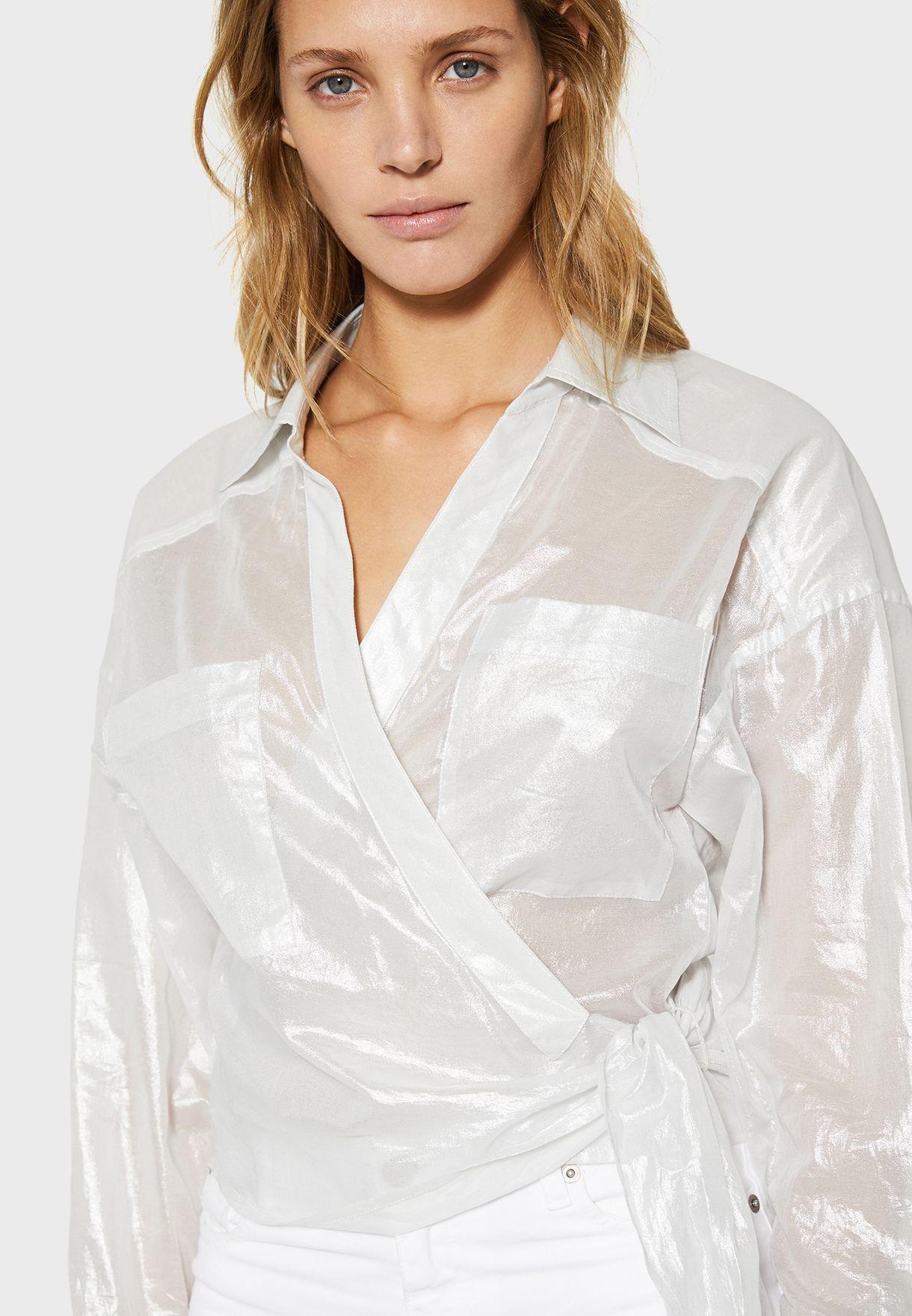 قميص لف شفاف