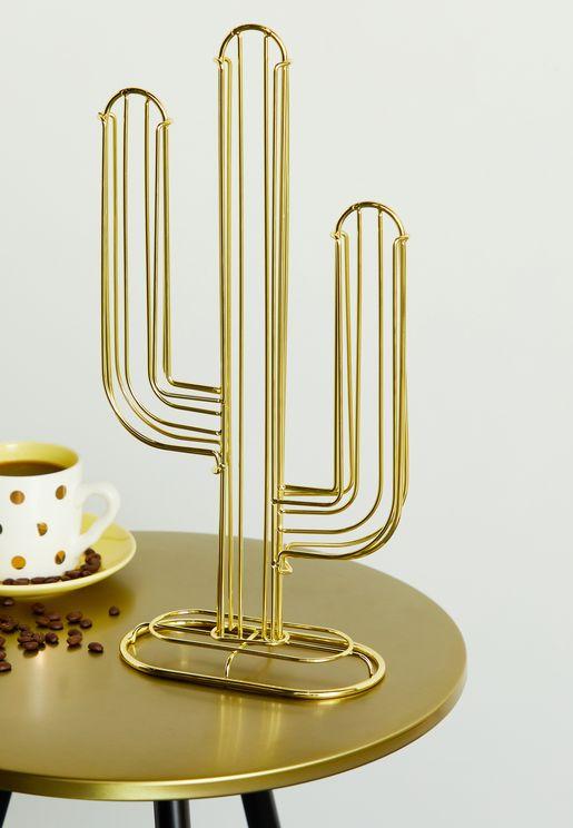 حامل فنجان قهوة علي شكل صبار