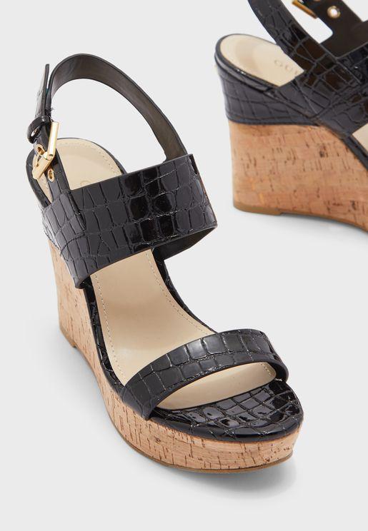 Higali Ankle Strap Wedge Sandal