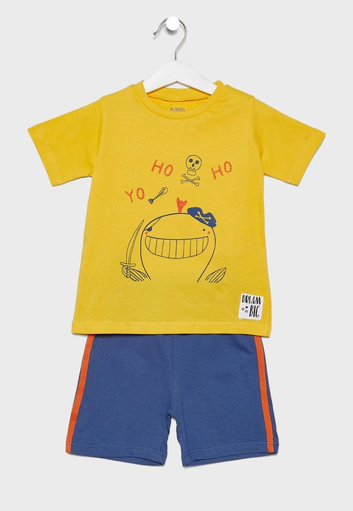 Little Graphic T-Shirt + Shorts Set