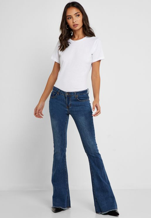 Flared Hem Jeans