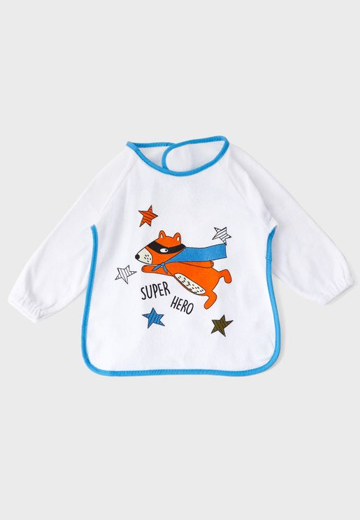 Superhero Long Sleeve Bib
