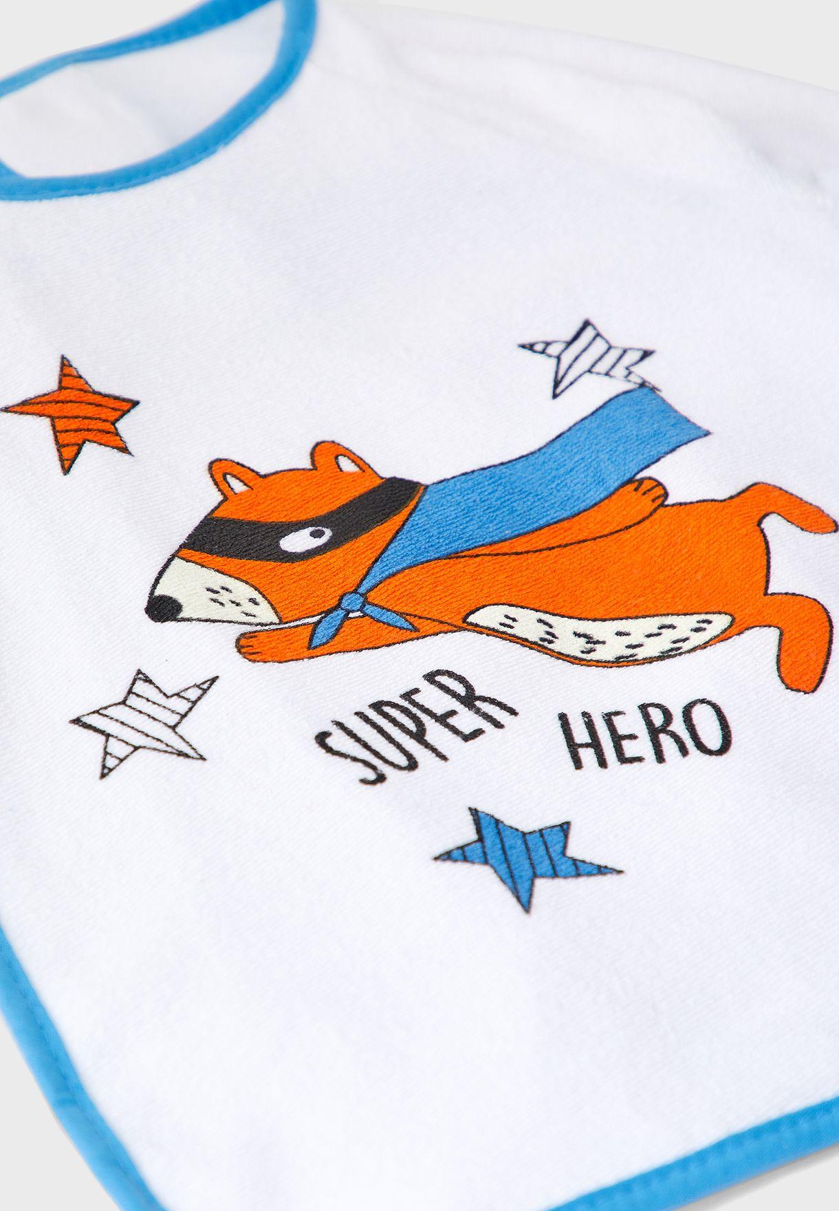 Superhero Long Sleeve Bib