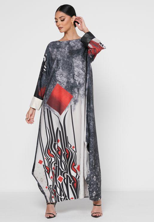 Printed Abaya