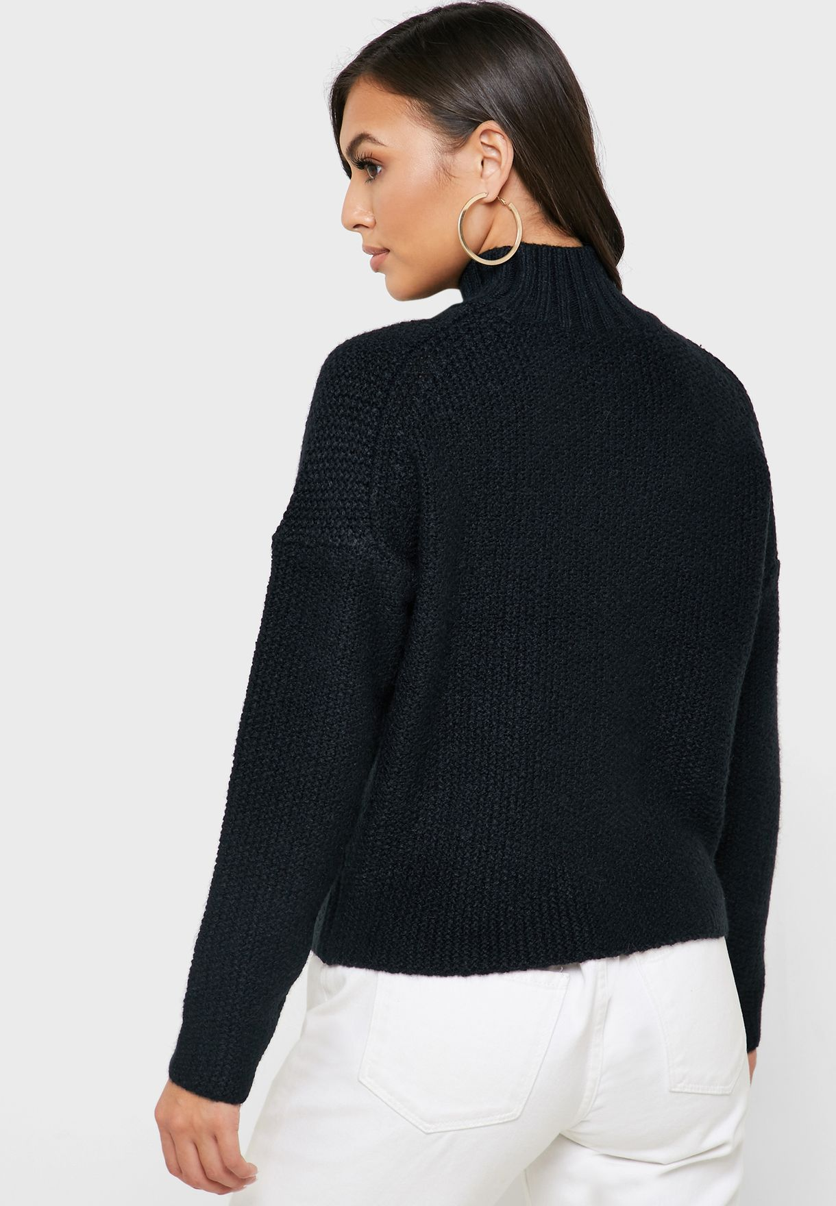 High Neck Chunky Sweater