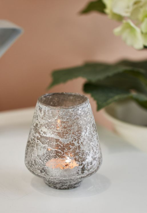 Small Hand Blown Spherical Candle Holder
