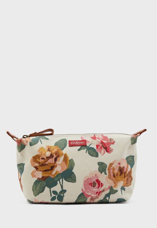 Flower Print Cosmetic Bag