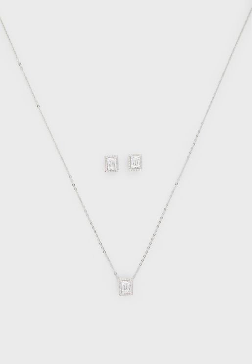 Angelic Pendant Necklace+Earrings Set